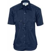 Ladies Drill Shirt, S/S