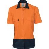 Ladies HiVis Drill Shirt, S/S