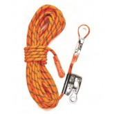 Kernmantle Rope with Thimble  Eye and Rope Grab - 15m