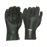 Double Dipped Green PVC Gloves - 27cm